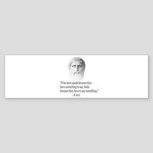 Quote By Plato Bumper Sticker