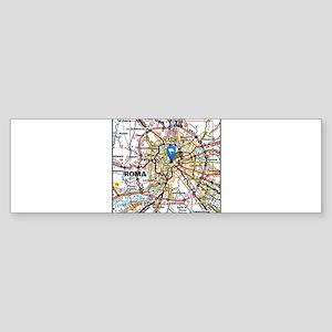 Map of Rome Italy Bumper Sticker