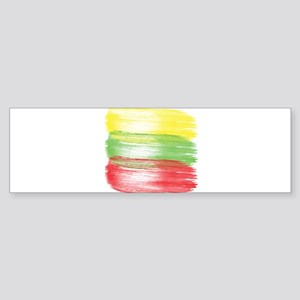 lithuania flag lithuanian Bumper Sticker