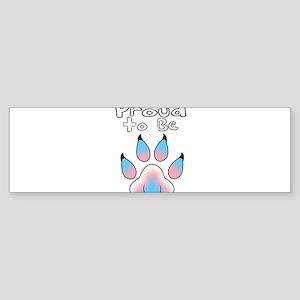 Proud To Be Transgender Furry Bumper Sticker
