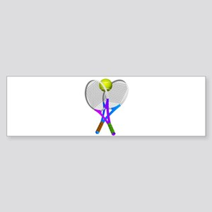 Tennis Rackets and Ball Bumper Sticker