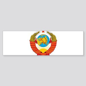 USSR Coat of Arms 15 Republic Emble Bumper Sticker
