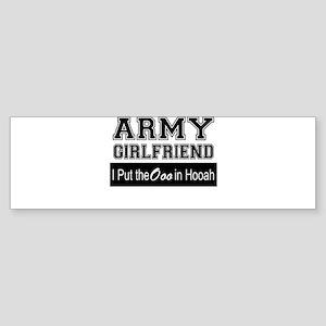 Army Girlfriend Ooo in Hooah_Black Bumper Sticker
