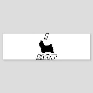 I SHIH TZU NOT Bumper Sticker