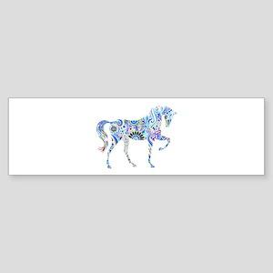 Cool Colorful Horse Bumper Sticker