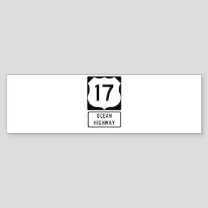 US Route 17 Ocean Highway Bumper Sticker