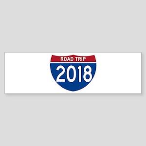 Road Trip 2018 Bumper Sticker