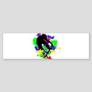 Graffiti Paint Splotches Skateboard Bumper Sticker