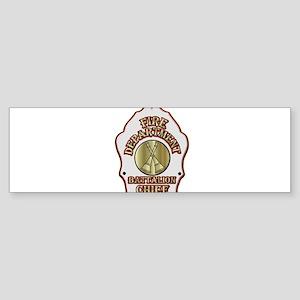 battalion chief FD badge white Bumper Sticker