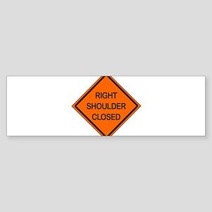 Right Shoulder Closed Sticker (Bumper)