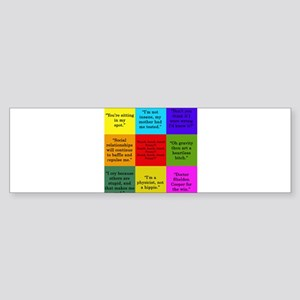 Sheldon Cooper Quotes Bumper Sticker
