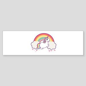 Chubby Unicorn Bumper Sticker