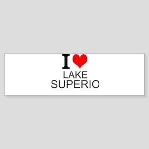 I Love Lake Superior Bumper Sticker