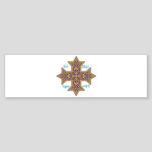 Coptic Cross Bumper Sticker