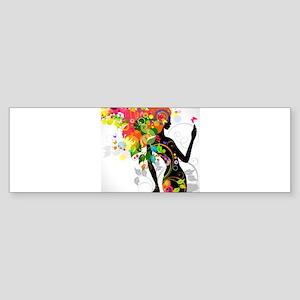 Psychedelic woman Bumper Sticker
