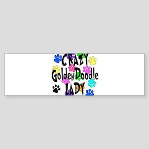 Crazy Goldenddoodle Lady Sticker (Bumper)
