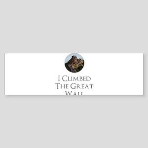 I Climbed The Great Wall Sticker (Bumper)