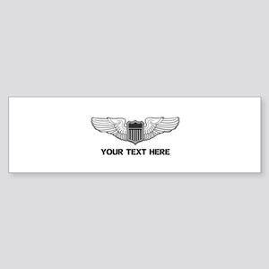 PERSONALIZED PILOT WINGS Sticker (Bumper)