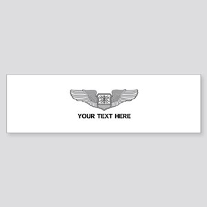 PERSONALIZED NAVIGATOR WINGS Sticker (Bumper)