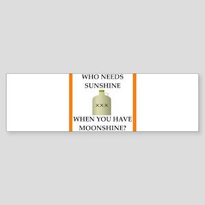 moonshine Bumper Sticker