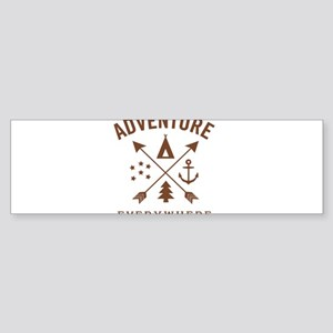 ADVENTURE EVERYWHERE Bumper Sticker