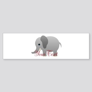Elephant Personalize Bumper Sticker