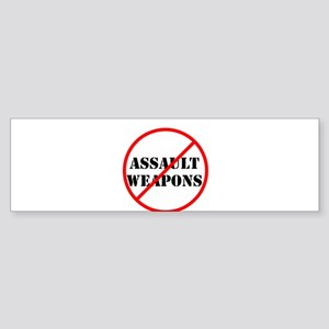 No assault weapons, gun control Bumper Sticker