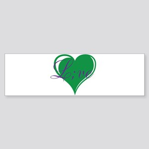 mental health awareness live Bumper Sticker