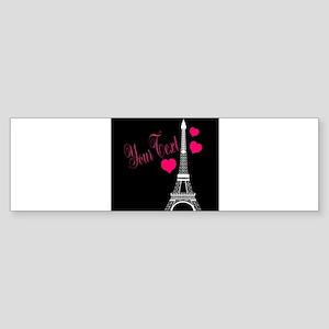 Paris France Eiffel Tower Bumper Sticker