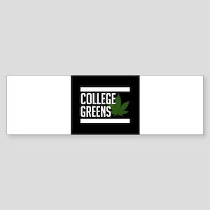 College Greens Bumper Sticker