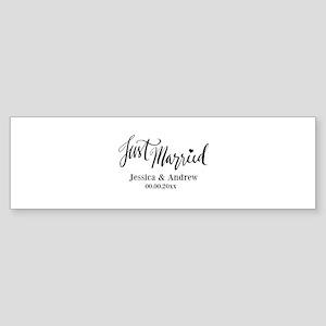 Just Married custom wedding Bumper Sticker