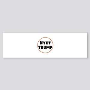 Nyet Trump, No Trump/Putin Bumper Sticker