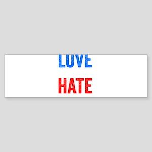 Love Trumps Hate Resist Anti Donald Trump Bumper S