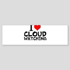 I Love Cloud Watching Bumper Sticker