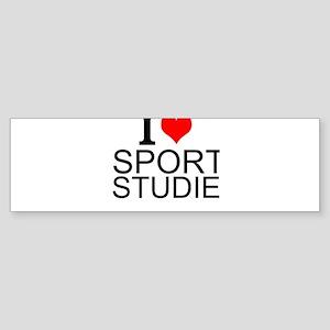 I Love Sports Studies Bumper Sticker