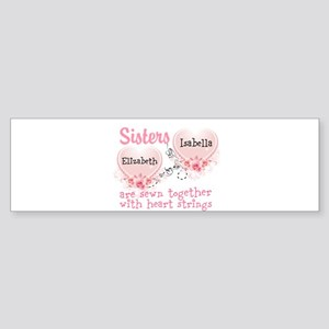 Personalize Sisters/Best Friends Bumper Sticker