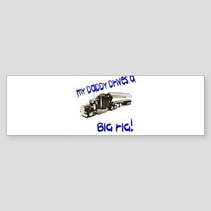 Trucking Dad Bumper Sticker