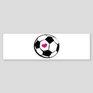 Soccer Heart Bumper Sticker