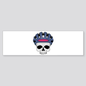 cycling skull copy Sticker (Bumper)