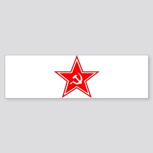 soviet-star-white-w Sticker (Bumper)