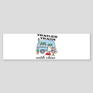 Trailer Trash with Class Sticker (Bumper)