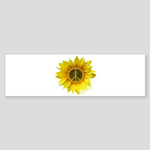 Sunflower peace white Bumper Sticker