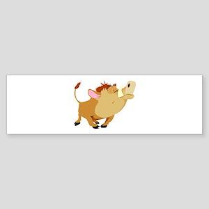Funny Stubborn Wild Boar Sticker (Bumper)