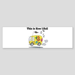 3-hippie bus Sticker (Bumper)