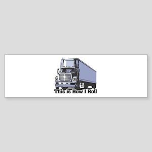 tractor trailer Sticker (Bumper)