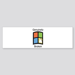 Windoze, Genuinely Broken Bumper Sticker