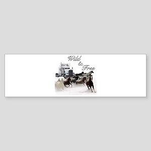 Wild & Free Bumper Sticker