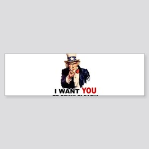 Want You To Drink Bleach Sticker (Bumper)