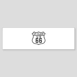 St. Clair Route 66 Bumper Sticker
