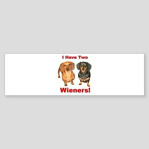 Two Wieners Bumper Sticker